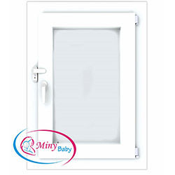 Miny Baby Anahtarlı Pencere Kilidi - Beyaz