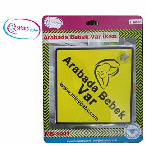 Resim  Miny Baby Arabada Bebek Var İkaz Stickerı