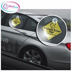 Miny Baby Arabada Bebek Var İkaz Stickerı