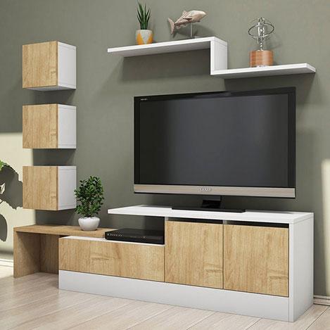 Resim  House Line New Tv Ünitesi - Safir / Beyaz