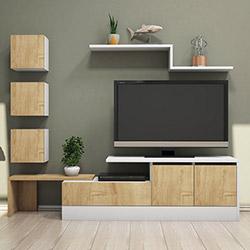 House Line New Tv Ünitesi - Safir / Beyaz