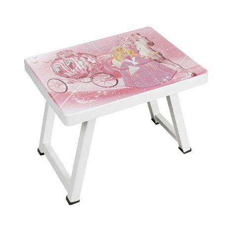 Modelüks Katlanır Prenses Modelli Çocuk Masası - Pembe / Beyaz