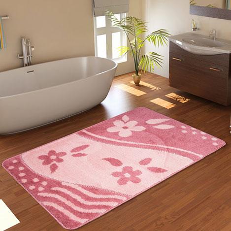 Confetti Bandırma Banyo Paspası (Gülkurusu) - 60x100 cm