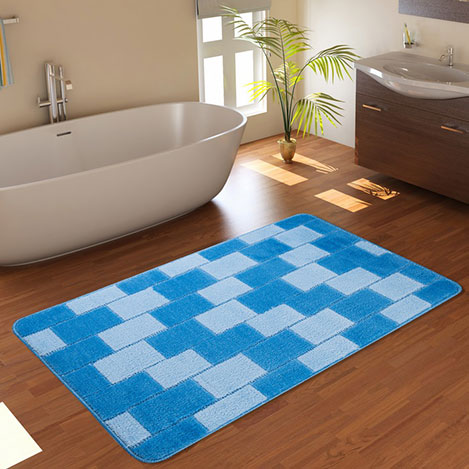 Confetti Bornova Banyo Paspası (Mavi) - 60x100 cm