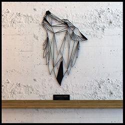 Hangover Wallart X2472120 Thewolf Metal Duvar Panosu - 72x120 cm