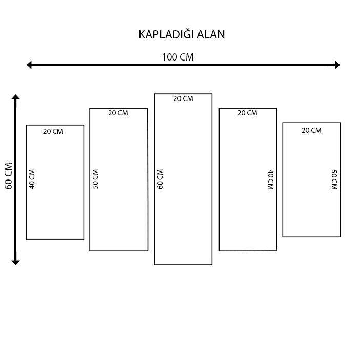 K Dekorasyon KM5P1804 Mdf Tablo - 5 Parçalı