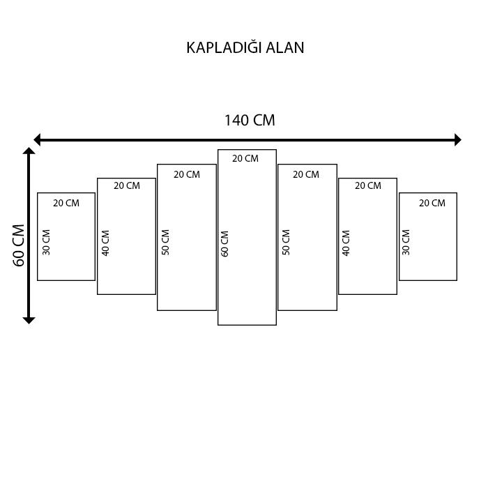 K Dekorasyon 1277 Mdf Tablo - 7 Parçalı