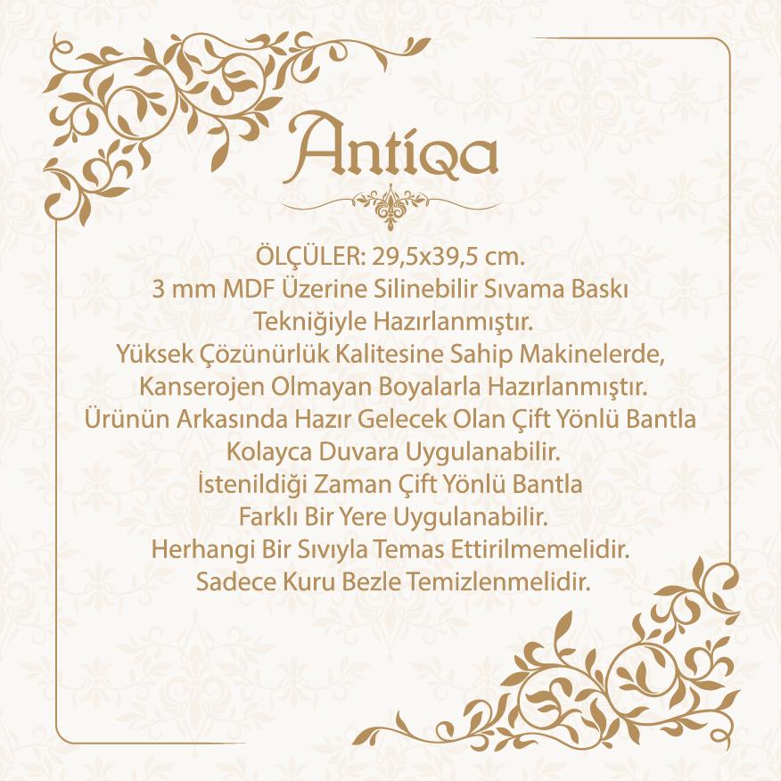 AntiQa AEL144 Frenc Style Elips Mdf Tablo - 29,5x39,5 cm