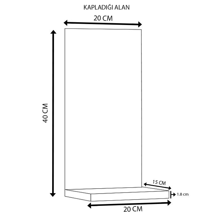 Modacanvas TKMD76 Tablo Raf - 20x40 cm