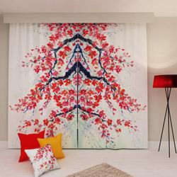 Erenev Sakura Kiraz Çiçeği 2'li Fon Perde Seti