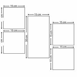 DecorLux ATF144 Mdf Tablo - 5 Parçalı