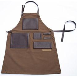 Monapron Leonardo Özel Tasarım Önlük - Koyu Kahverengi