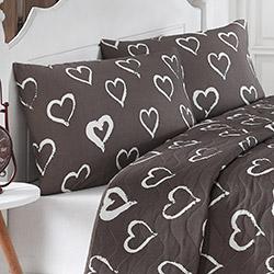 Eponj Home Amaour Çift Kişilik Yatak Örtüsü Takımı - Kahverengi