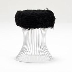Evdebiz Pufi Demir Ayaklı Puf - Siyah