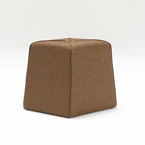 Resim  Evdebiz Muffin Düğmeli Puf - Kahverengi
