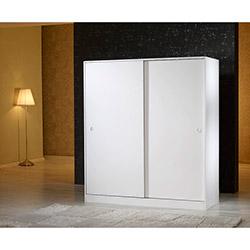 Mobusta Diba160 Sürgü Kapaklı Gardırop - Parlak Beyaz