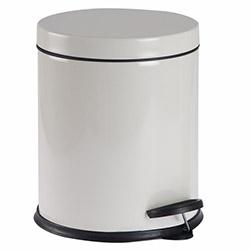 Alper Banyo Pedallı Çöp Kovası ve Klozet Fırçası Seti (Krem) - 5 Litre