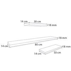Ankara Mobilya 18mm 3'lü Raf Seti 80 - Beyaz