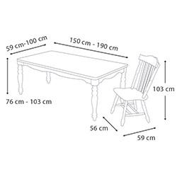 Vitale Family Masa Sandalye Seti - Ceviz / Beyaz