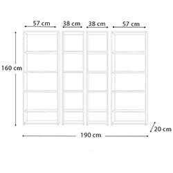 Eyibil Mobilya Yıldız 4'lü Modern Kitaplık - Ceviz / Beyaz
