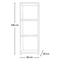 Eyibil Mobilya Mini Modern 3 Raflı Kitaplık - Beyaz