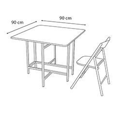 House Line Katlanır Kırma Masa ve Sandalye Takımı -  Gri