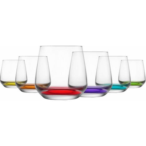 Lav LAL361PT068 6'lı Cam Meşrubat Bardağı Seti