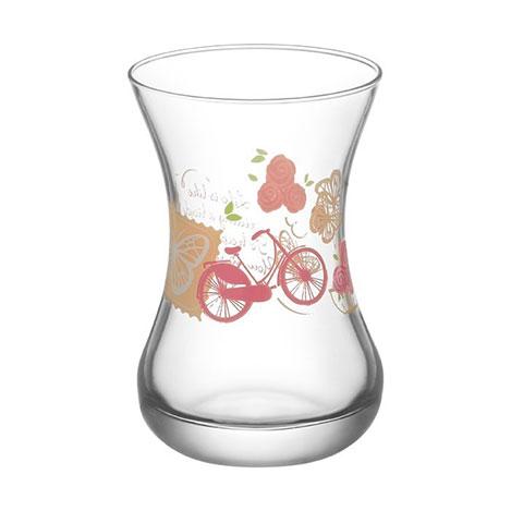 Lav 2811 Cam Çay Bardağı