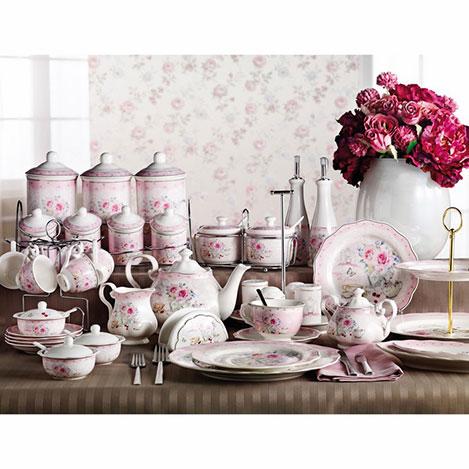 Resim  Pierre Cardin 43 Parça Porselen Fiore Kahvaltı Takımı