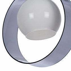 Safir Light Halka Tekli Pleksi Sarkıt - Siyah