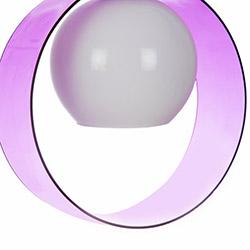 Safir Light Halka Tekli Pleksi Sarkıt - Lila