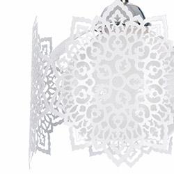 Safir Light Logo Tekli Sarkıt - Beyaz