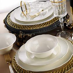 Kütahya Porselen 24Y200 Bone İlay 24 Parça Yemek Takımı