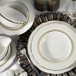Kütahya Porselen Bone Olympos 62 Parça 9435 Desenli Yemek Takımı