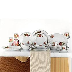 Kütahya Porselen Diana Güllü 24 Parça Yemek Takımı