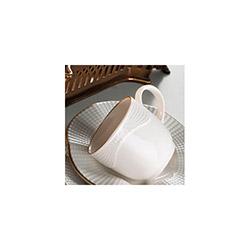 Kütahya Porselen Mitterteich Milena 6 Kişilik Çay Fincan Takımı - Krem