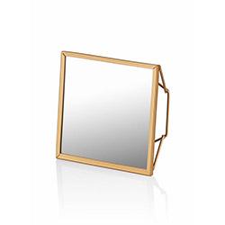 The Mia BRS0011 Brass Ayna - 15x15 cm
