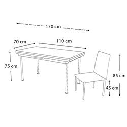 Kristal Monopetli 6 Sandalyeli Gülpembe Yandan Açılır Cam Masa - Beyaz