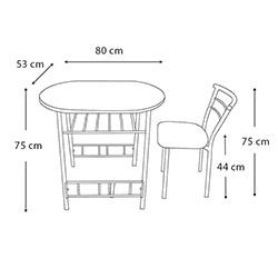 Kristal Minimo Masa Takımı - Beyaz