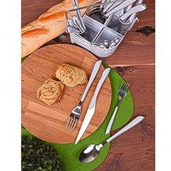 Keramika 0227 24 Parça Çelik Çatal Kaşık Bıçak Takımı - Beyaz