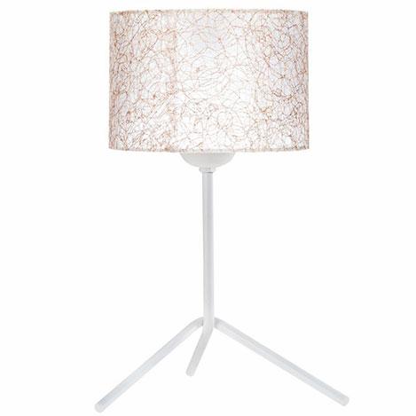 Resim  Safir Light Lampan No.10 Abajur - Beyaz / Sarı