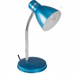 Nisa Luce Modern Krom Spiralli Masa Lambası - Mavi