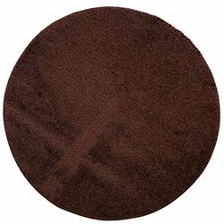 Confetti Firuze Yuvarlak Banyo Halısı (Kahverengi) - 100x100 cm