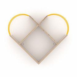 Rafevi Case Raf - Meşe / Sarı