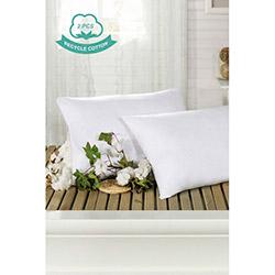 Eponj Home Recycle 2'li Pamuk Yastık (Beyaz) - 50x70 cm