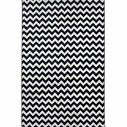 Saray 010 Lena Zikzak Modern Halı (Siyah/Beyaz) - 150x230 cm