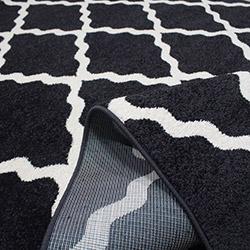 Saray 011 Lena Dalga Modern Halı (Siyah/Beyaz) - 150x230 cm