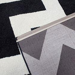 Saray 013 Lena Modern Halı (Siyah/Beyaz) - 150x230 cm