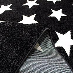 Saray 014 Lena Yıldızlı Modern Halı (Siyah/Beyaz) - 120x170 cm