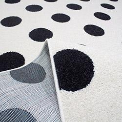 Saray 015 Lena Puantiyeli Modern Halı (Siyah/Beyaz) - 200x300 cm